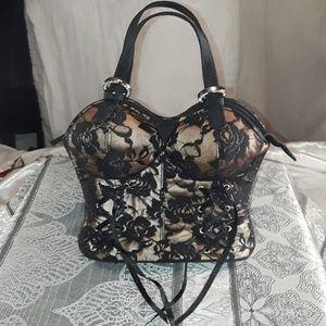 Black Bustier purse